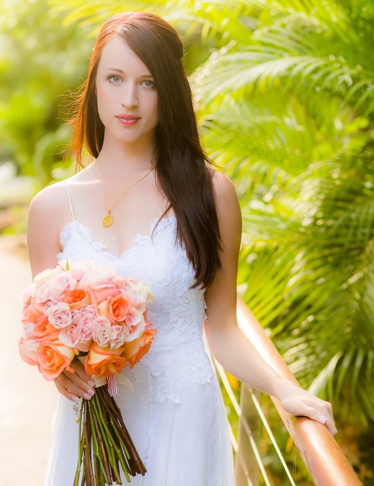 Portriat of bride at Riviera Maya Wedding