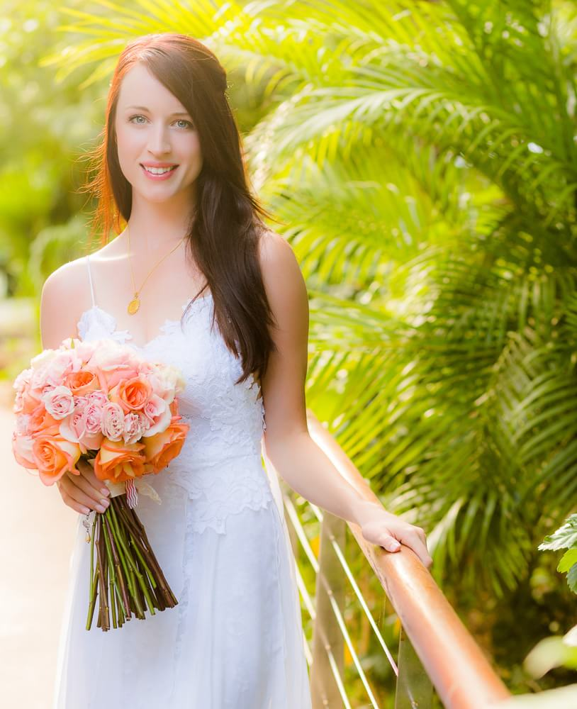 Bridal portrait at wedding.