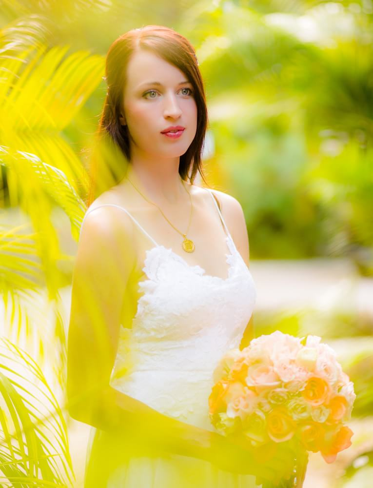 Bridal portrait at Rosewood Mayakoba Riveira Maya Wedding