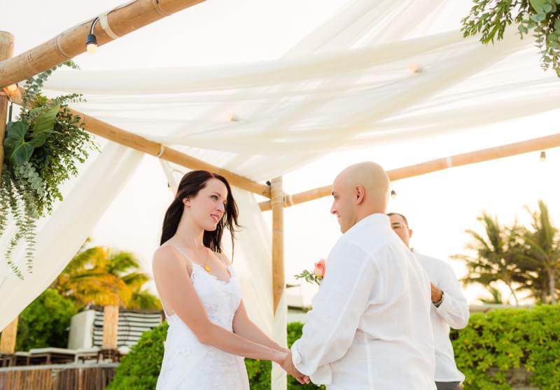 Ceremony photo at Rosewood Mayakoba wedding