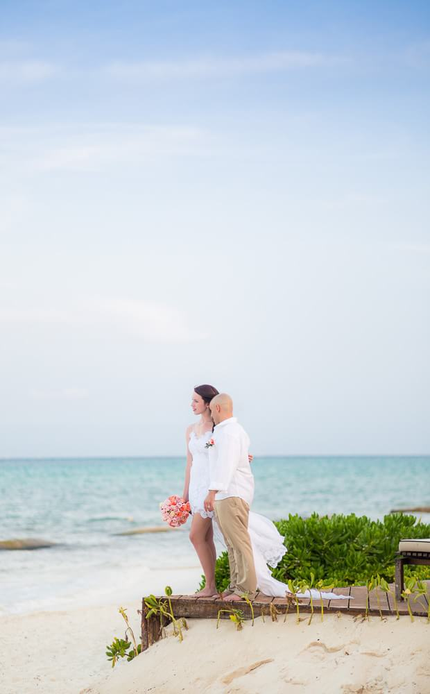 Wedding portrait at Rosewood Mayakoba Riveira Maya