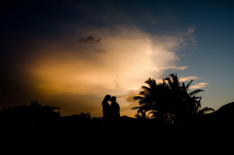 Sunset wedding at Rosewood Mayakoba Riveira Maya