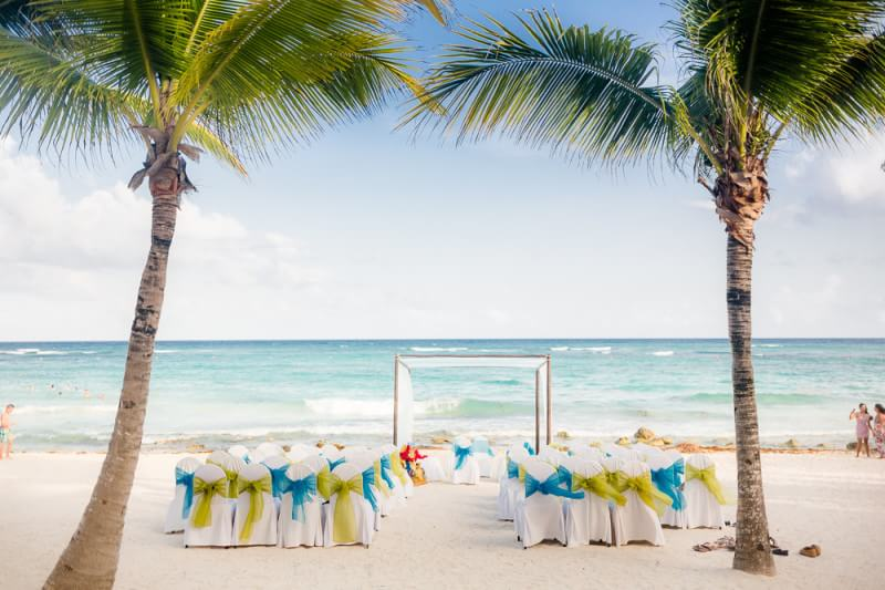 Beautiful ceremony location detail at Barcelo Riviera Maya Tropical Wedding