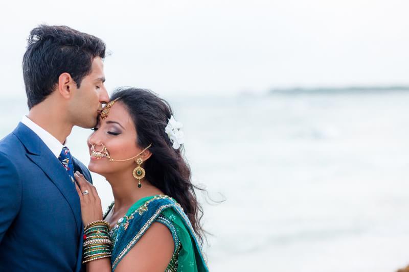 Beautiful Nikita and Seth's portrait at their Barcelo Riviera Maya Tropical Wedding