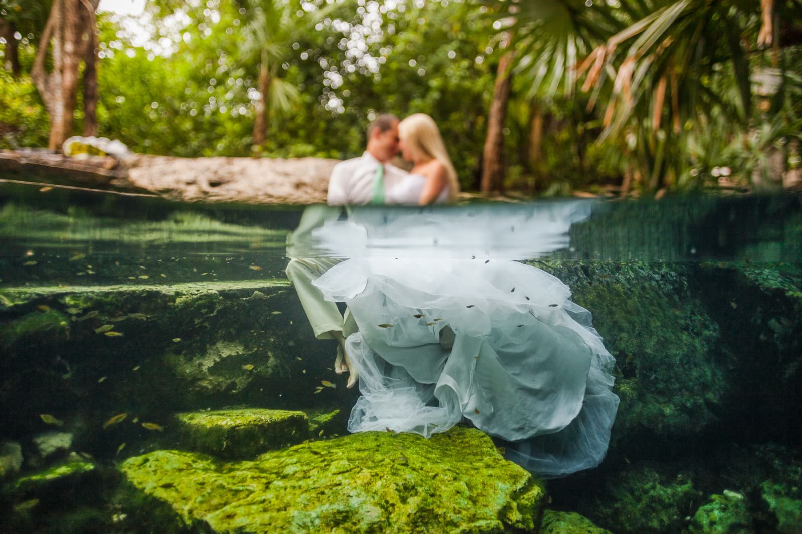 Underwater Mayan Cenote Trash the Dress_1114