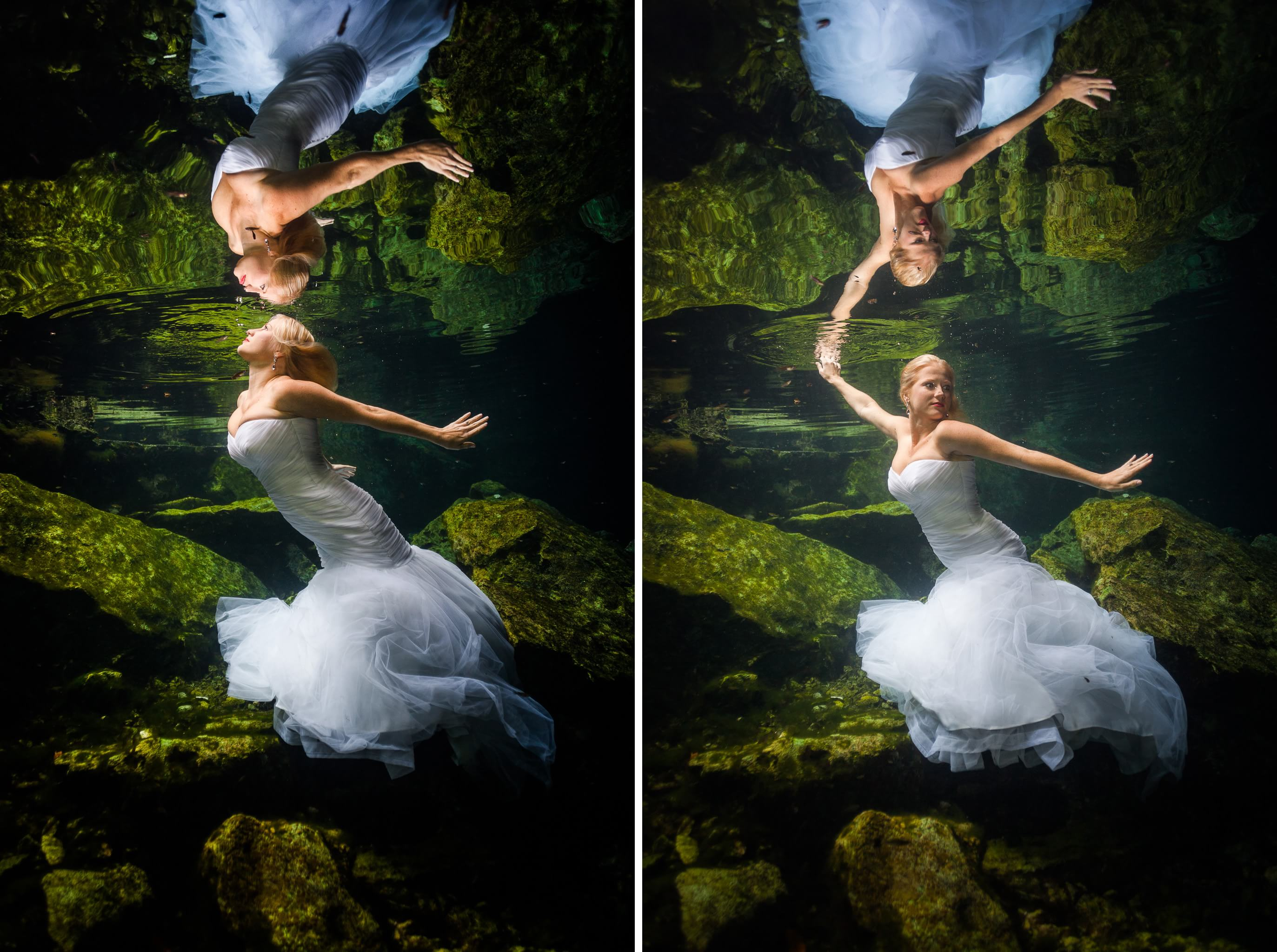 Underwater Mayan Cenote Trash the Dress_1244