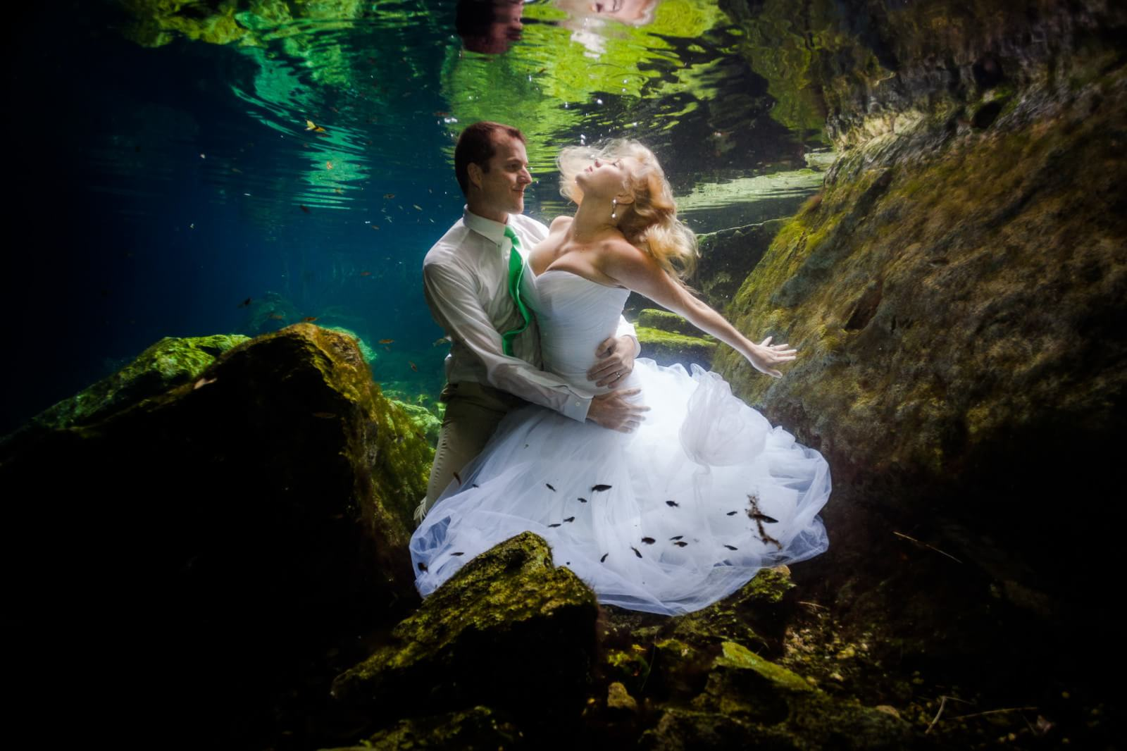 Underwater Mayan Cenote Trash the Dress_1386