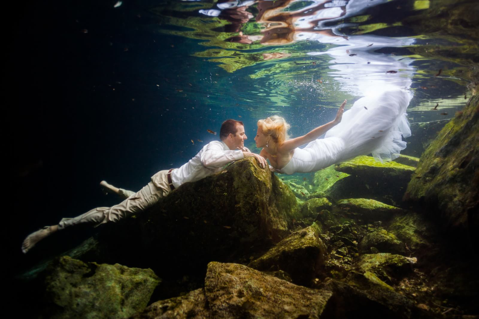 Underwater Mayan Cenote Trash the Dress_1469