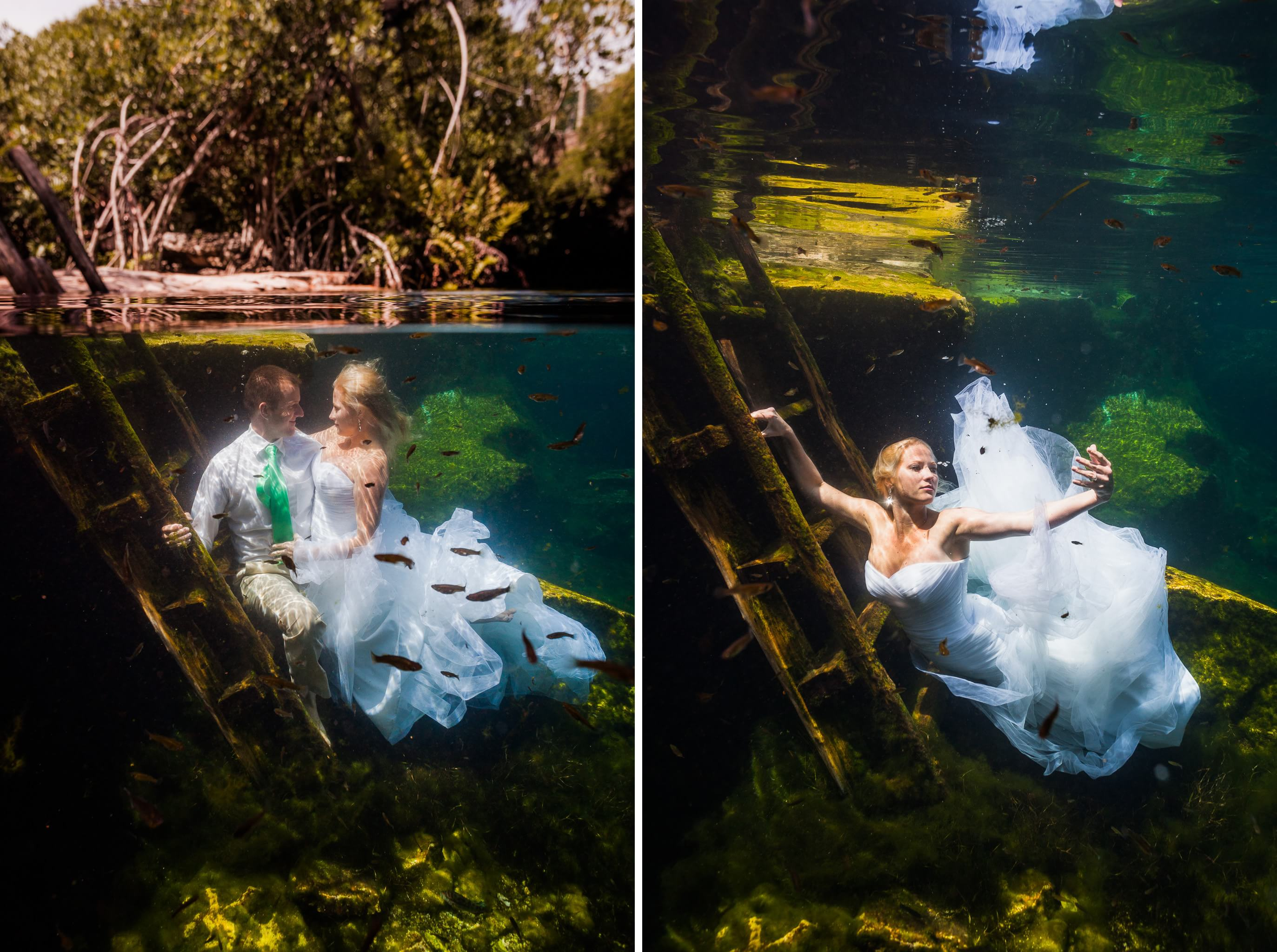 Underwater Mayan Cenote Trash the Dress_1989