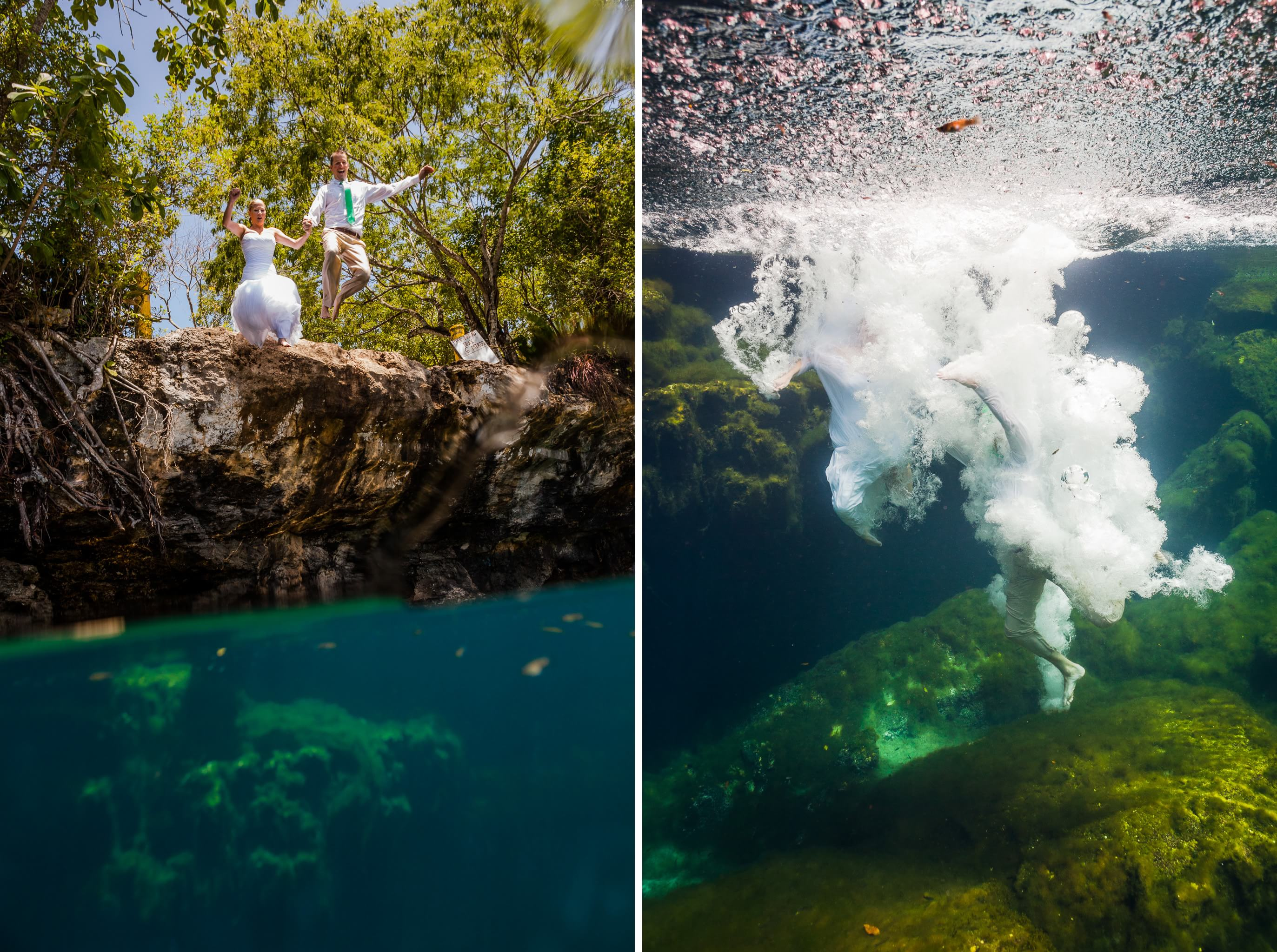 Underwater Mayan Cenote Trash the Dress_2076
