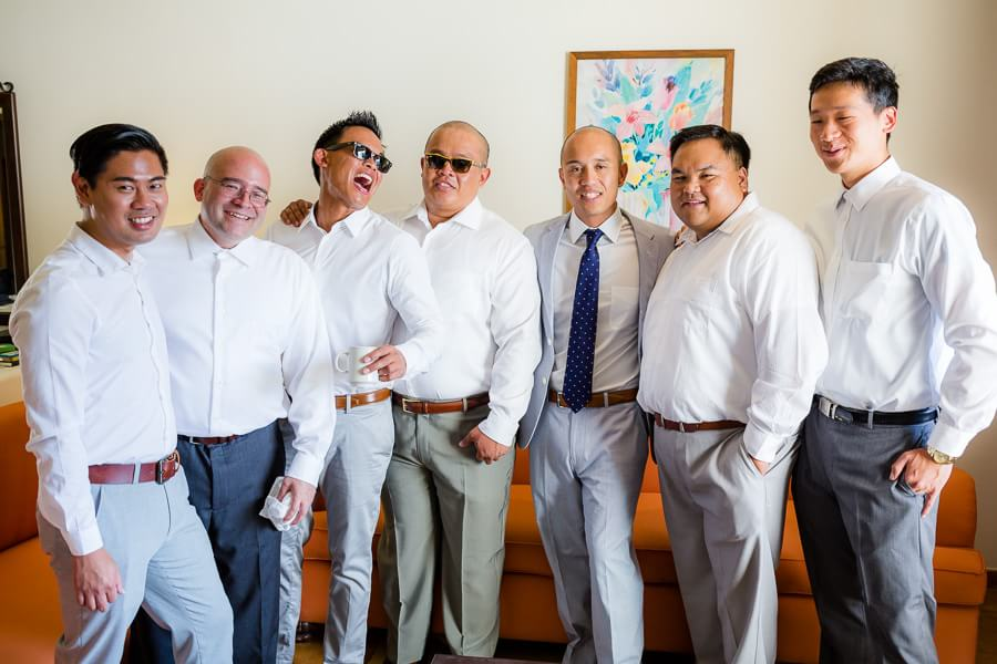 Jeremy and his groomsmen at Occidental Grand Xcaret Wedding
