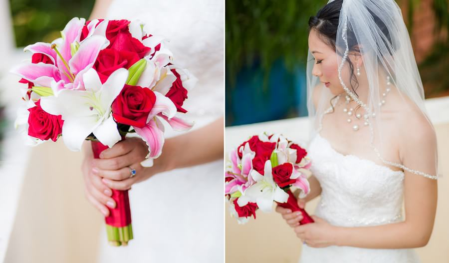 Amazing bouquet detail at Occidental Grand Xcaret Wedding 107