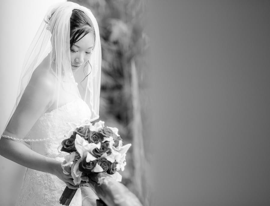 Bride's portrait at Occidental Grand Xcaret Wedding 109