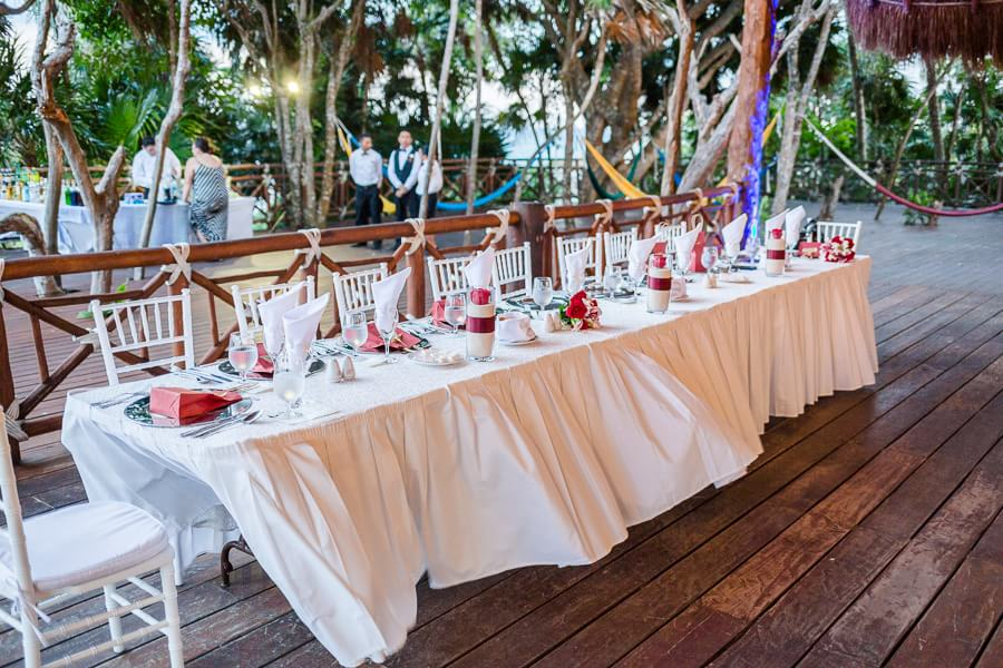 Great table detail at Occidental Grand Xcaret Wedding 132