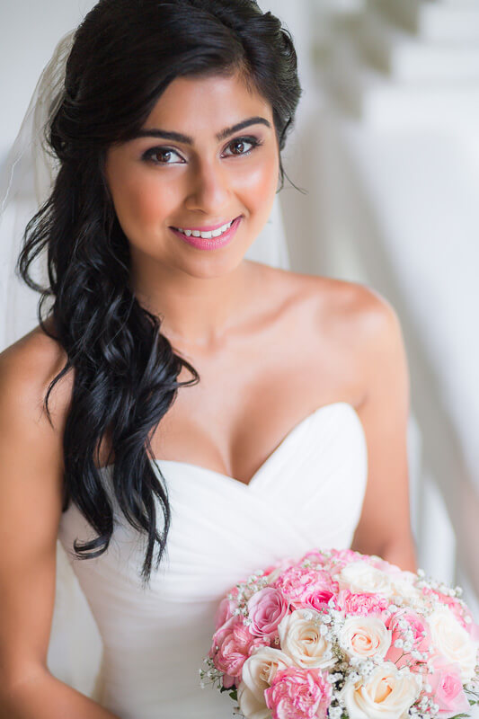 Portrait of bride before wedding