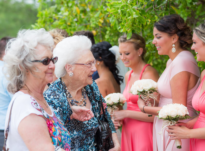 Grandmothers after wedding ceremony
