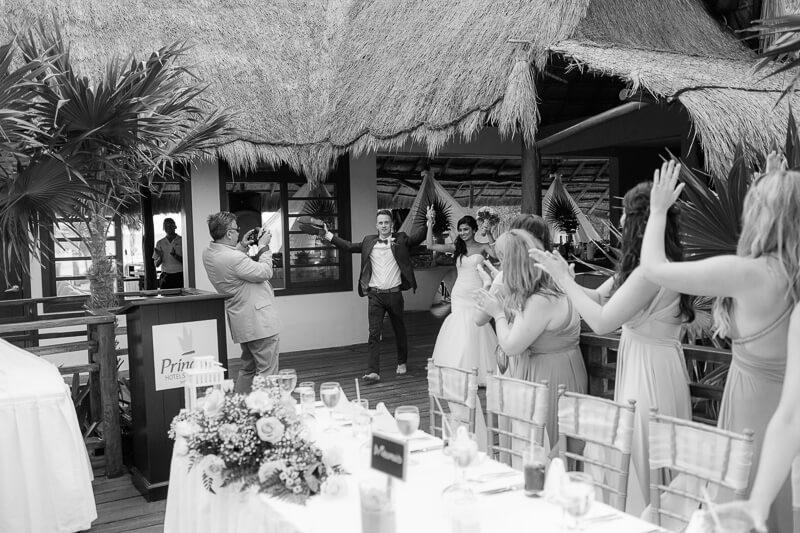 Wedding reception in riviera Maya