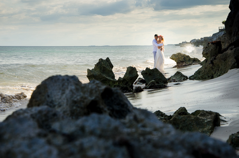 Landscape photography at Tulum beach wedding