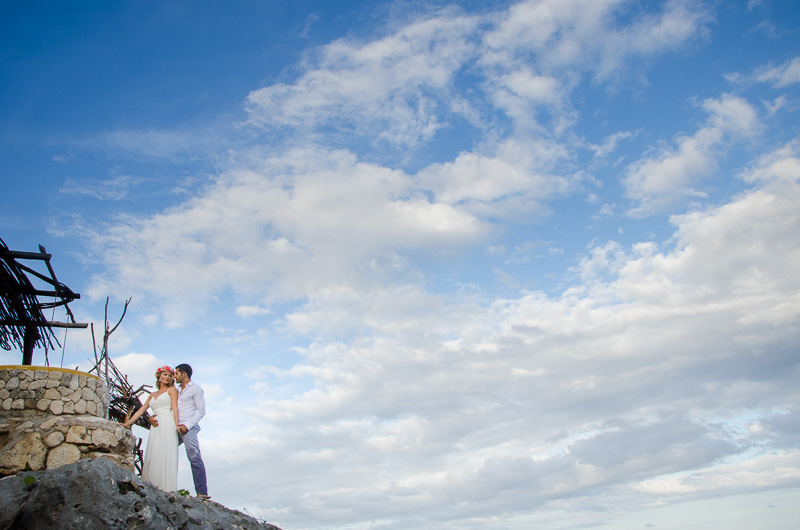 Landscape wedding photography at Tulum