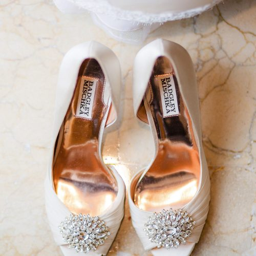 Brides shoes before her wedding at Iberostar Grand Hotel Paraiso