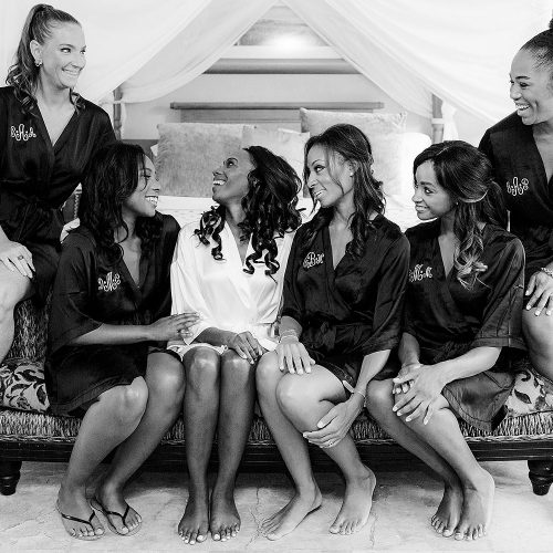 Bridal party before wedding at Iberostar Grand Hotel Paraiso , Mexico