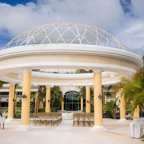 Wedding ceremony location at Iberostar Grand Hotel Paraiso, Mexico