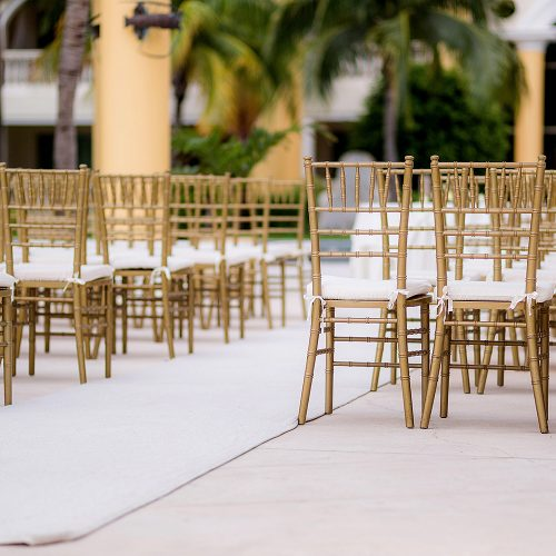 Close up of wedding ceremony location at Iberostar Grand Hotel Paraiso