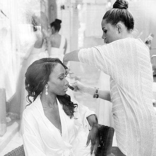 Bride getting ready at Iberostar Grand Hotel Paraiso