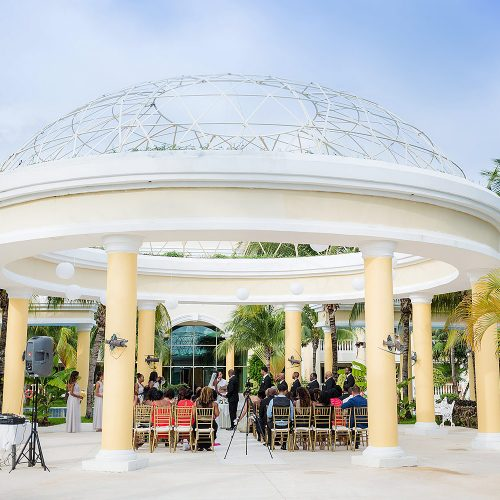 Wedding ceremony at Iberostar Grand Hotel Paraiso, Mexico