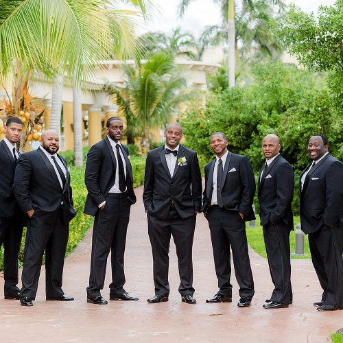 Groomsmen at Iberostar Grand Hotel Paraiso