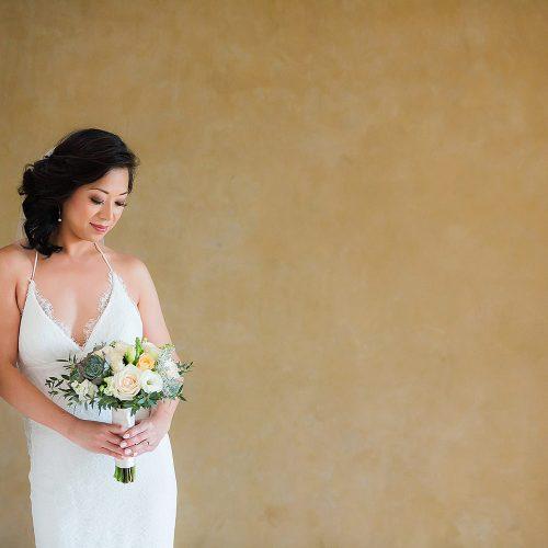 Portrait of bride before wedding in Tulum