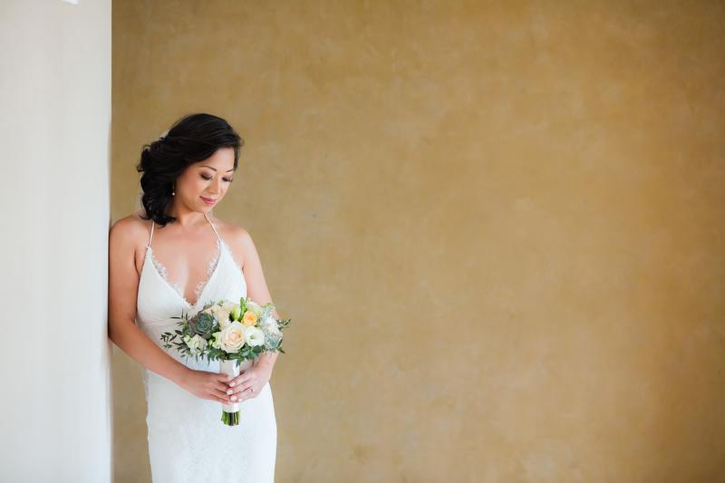 Portrait of bride at Villa Vidorra Wedding