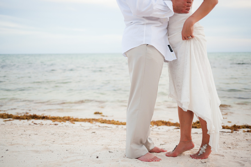 Feet in sand, Soliman Bay, Tulum Mexico wedding