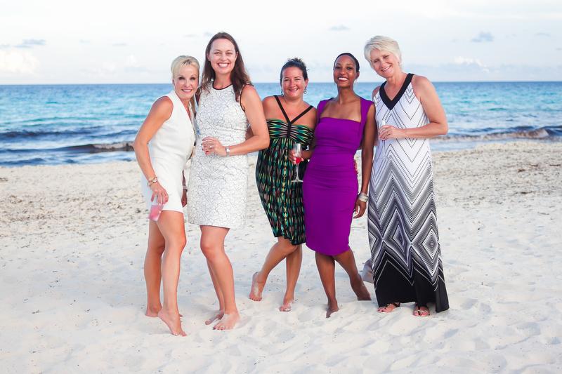 Wedding guests at Live Aqua Resort in Cancun