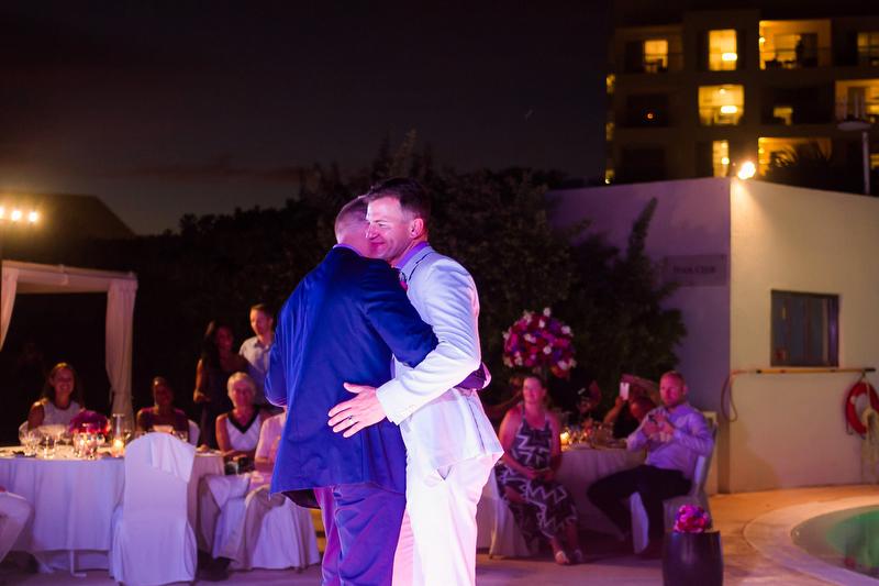 Two Grooms Dancing at Live Aqua Resort in Cancun
