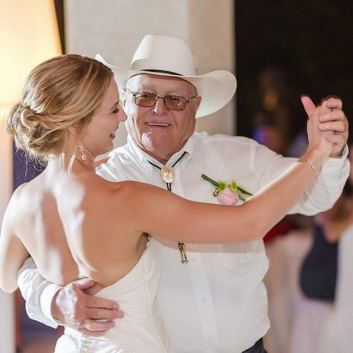 Bride dancing with father at Excellence Playa Mujeres
