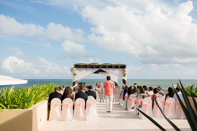 Wedding ceremony at NOW Jade Cancun Resort