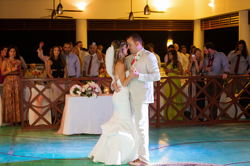 Bride and groom first dance at NOW Jade Cancun Resort Wedding