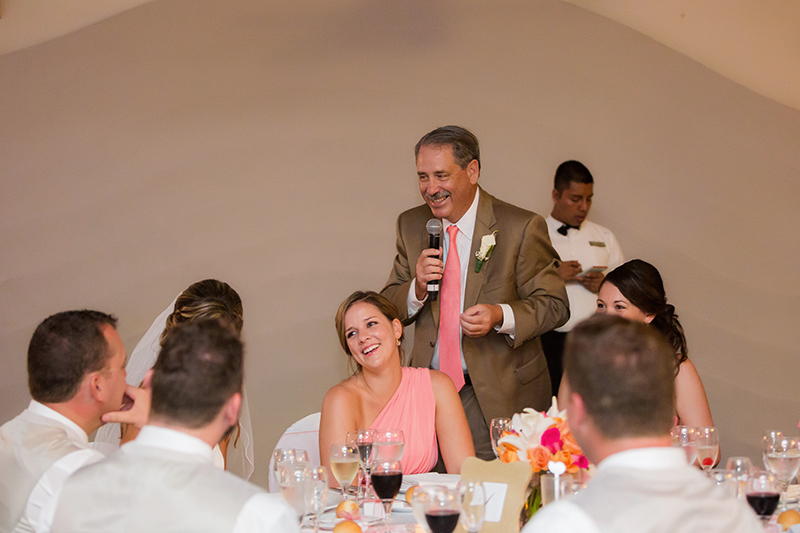Fun speech by father of the bride.