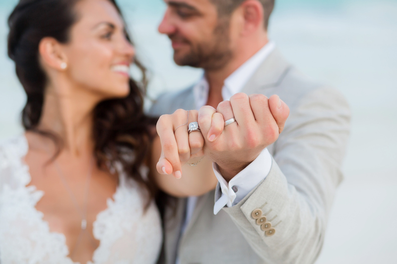 Malina and Elan's ring shot at Al Cielo Wedding