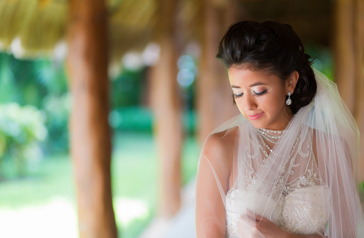 Portrait of bride at Secrets Maroma, Riviera Maya