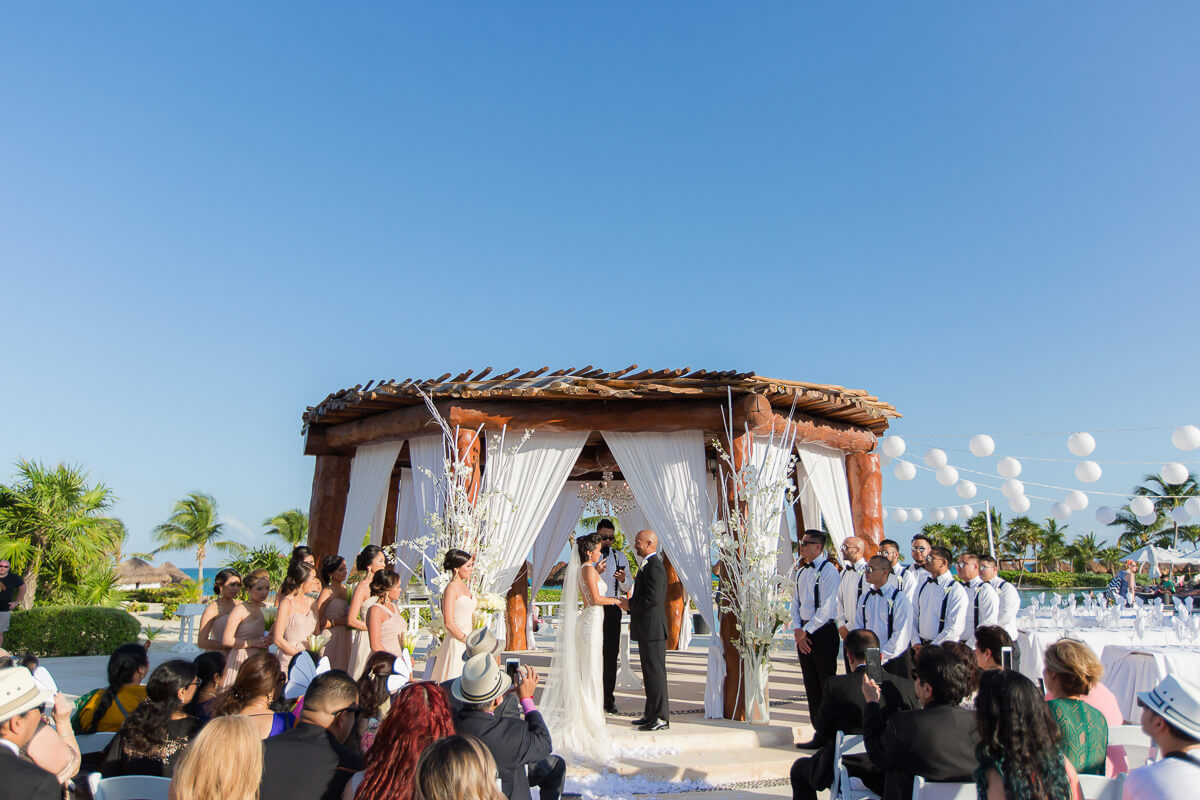 Wedding ceremony location at Secrets Maroma, Riviera Maya