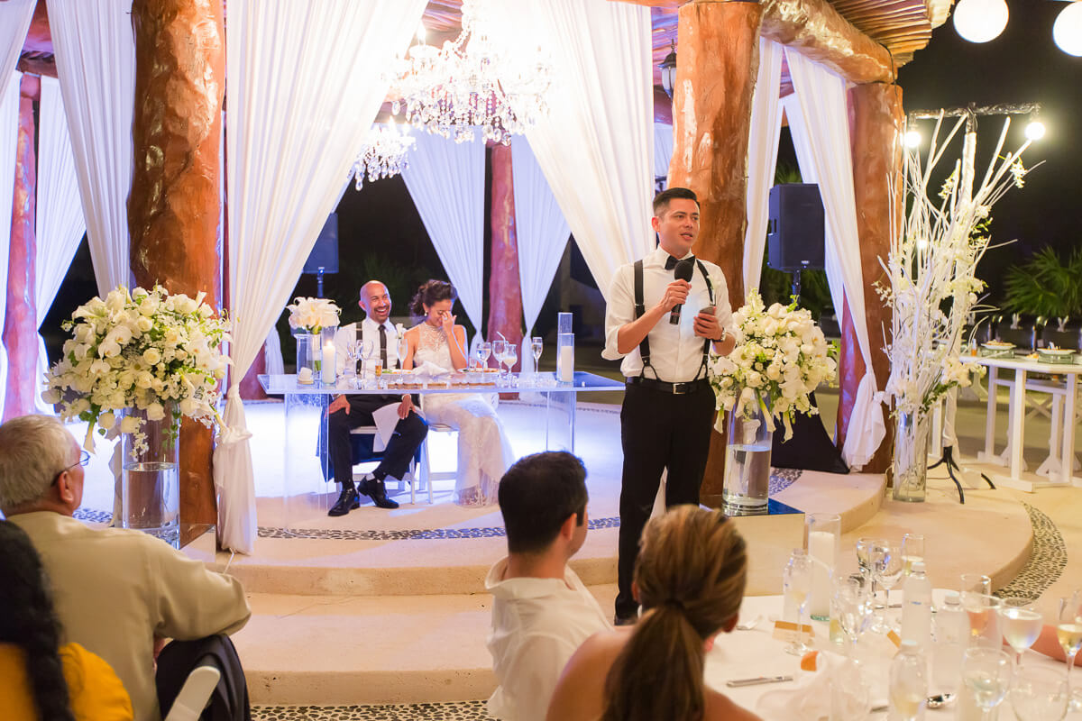Speech at wedding at Secrets Maroma