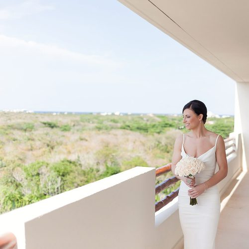Bride portrait at Secrets Akumal Riviera Maya