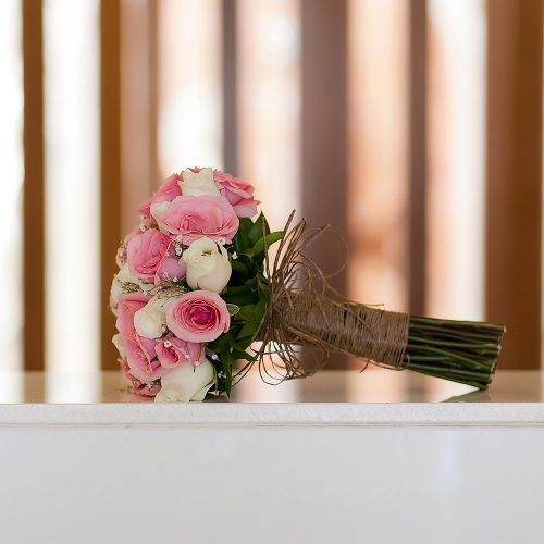 Detail photography of bouquet t Playa del Carmen wedding