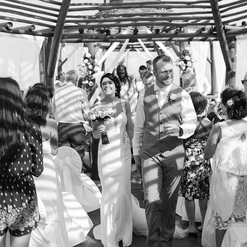 black and white wedding photography at Riviera Maya