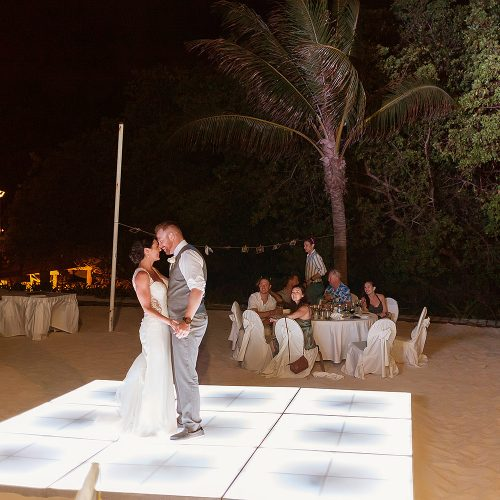 Bride and grooms first dance at wedding