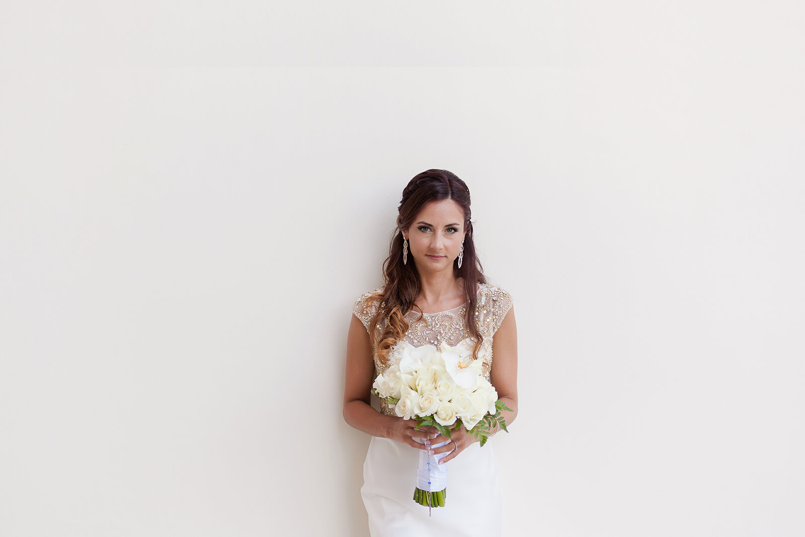 Beautiful Bride and Bouquet Portrait at Grand Sirenis Riviera Maya