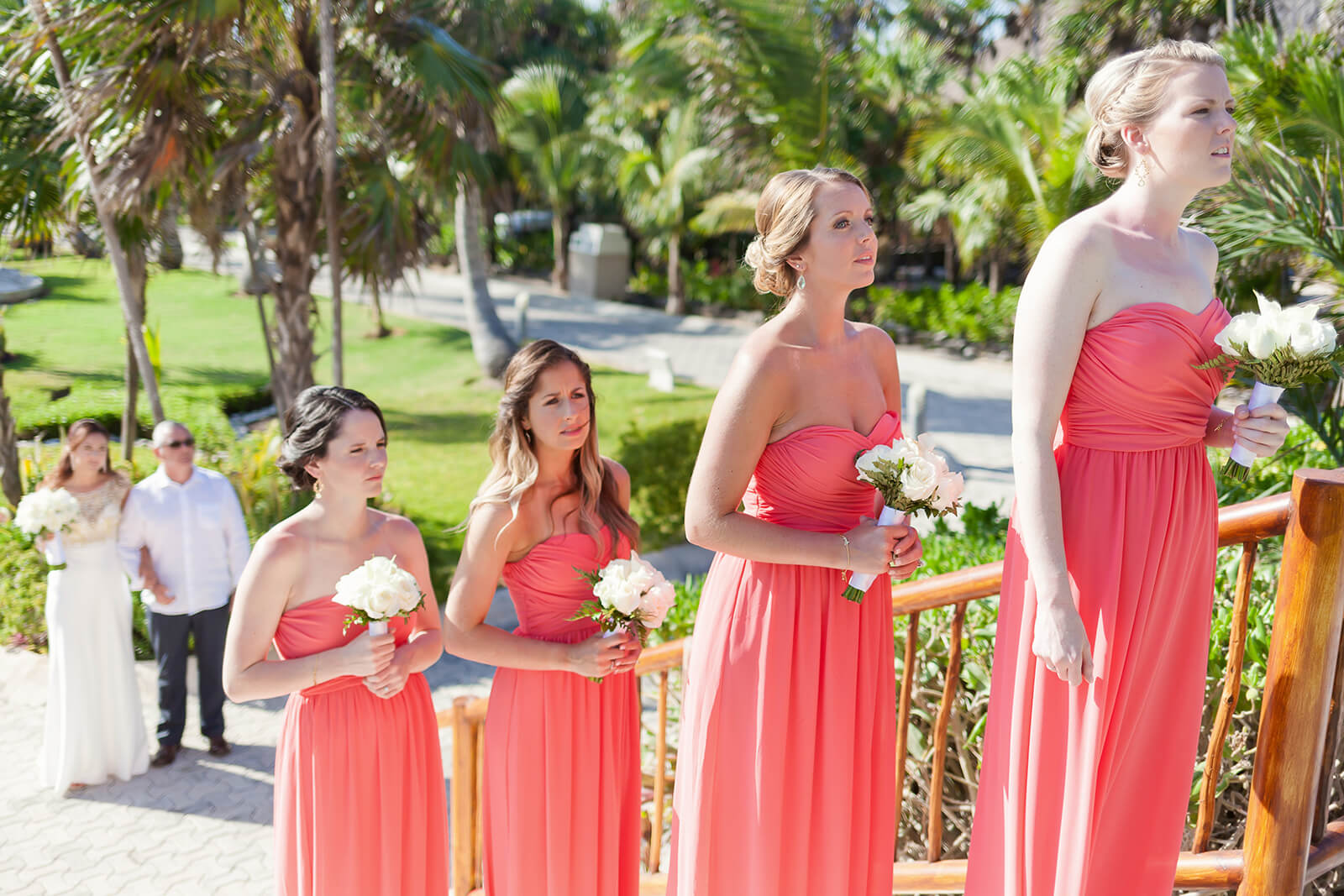 Bridesmaids waiting Gran Sirenis Riviera Maya