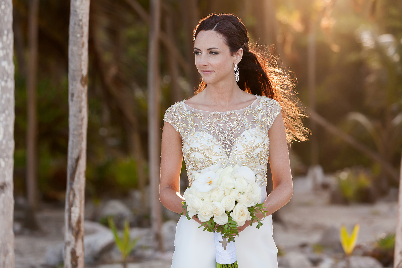 Bride Portrait Grand Sirenis Riviera Maya Wedding